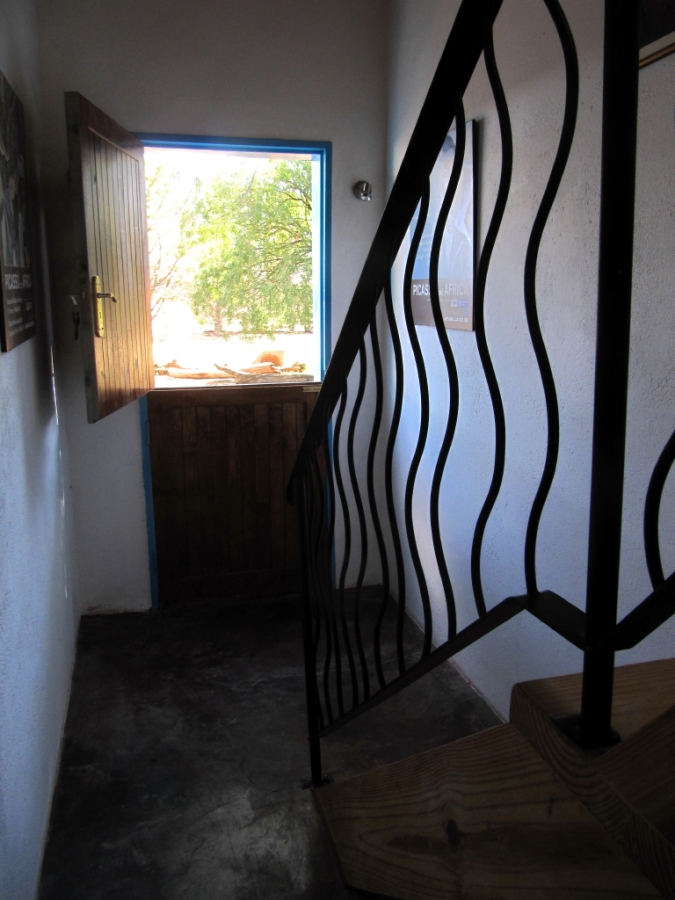 Stairs and front door looking out | The Garlic House artist studio ...